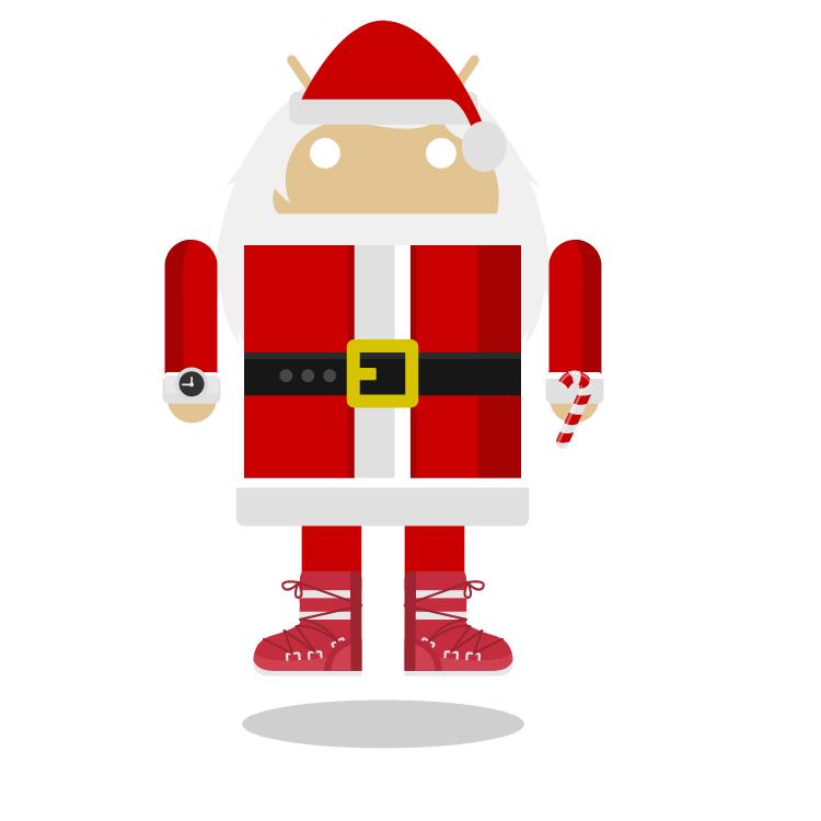 Игры на андроид бежать Santa Android
