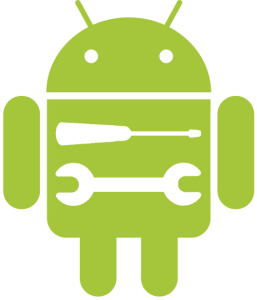 Android with Screwdriver and Spanner Inlaid